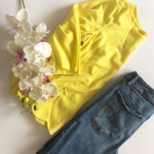 Ann Taylor bright yellow top